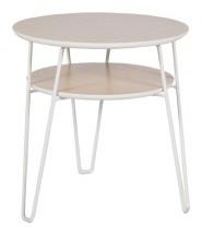 Leon - Konferenční stolek, světlý rám (dubová dýha, kovový rám)