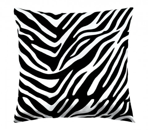 Leona - Polštářek 45x45cm (zebra bílá/černá)