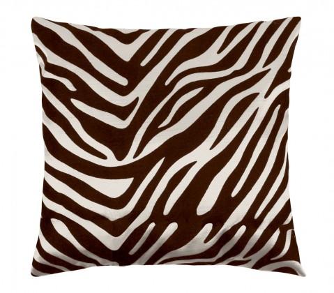 Leona - Polštářek 45x45cm (zebra krémová/hnědá)