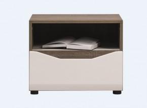 Leone - Noční stolek (dub trufel, bílá lesk)