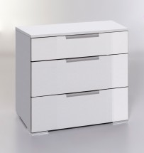 LevelUp D - Komoda, 3x zásuvka (bílá VL, bílá)