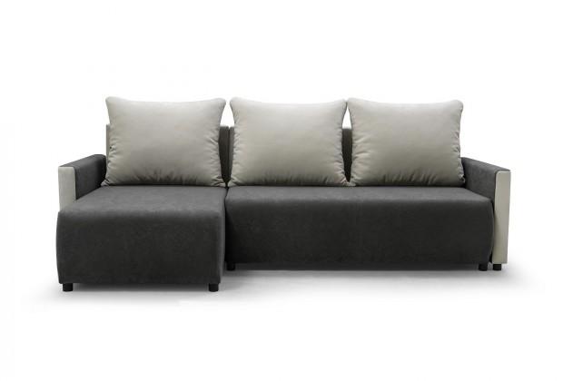 Levné Rohová sedačka rozkládací Finezja univerzální roh ÚP šedá, bílá