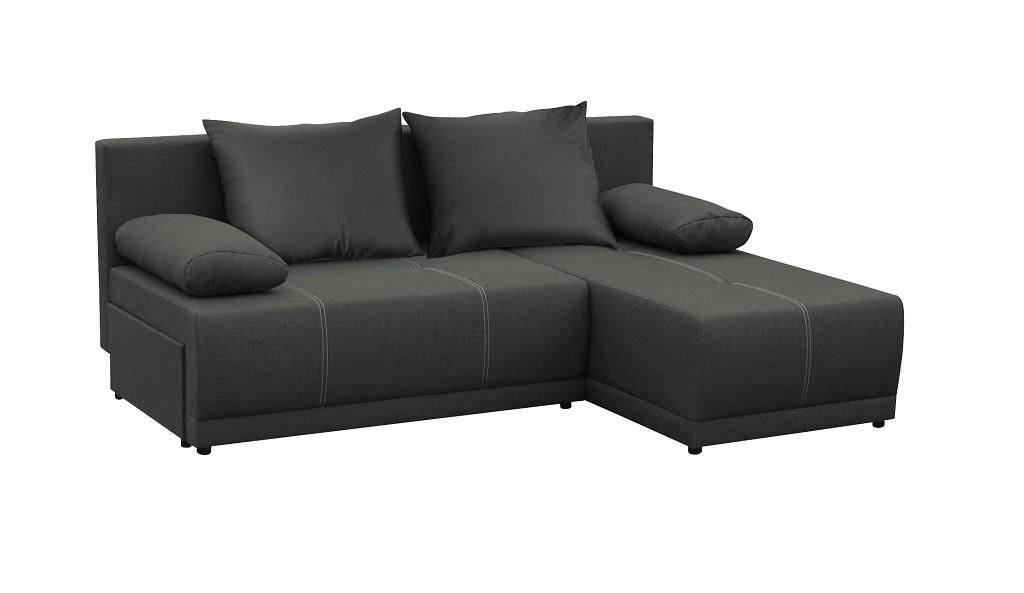 Levné Rohová sedačka rozkládací Picolo univerzální roh ÚP černá