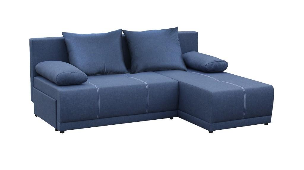Levné Rohová sedačka rozkládací Picolo univerzální roh ÚP modrá