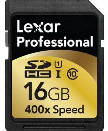 Lexar 16GB UHS-I SD 400x Professional (Class 10)