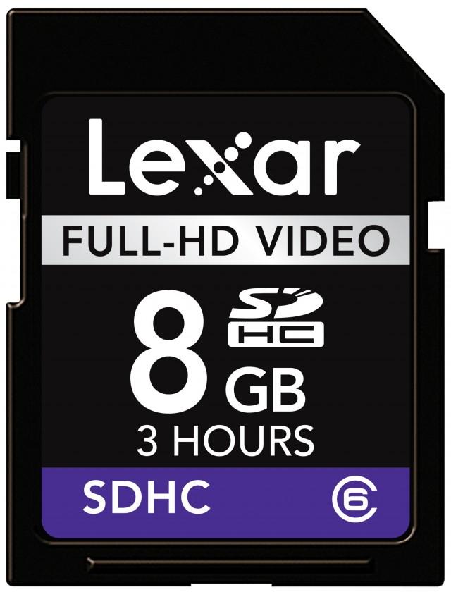 Lexar 8GB SDHC Full-HD Video (Class 6)