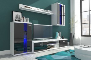 Life - Obývací stěna (bílá/černá lesk)
