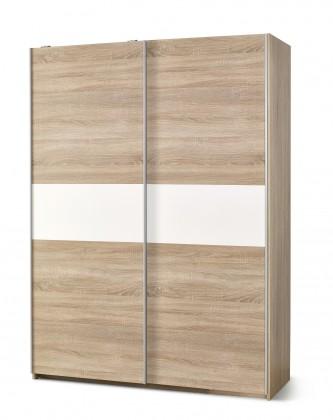 Lima - Skříň s posuvnými dveřmi (dub sonoma, bílá)