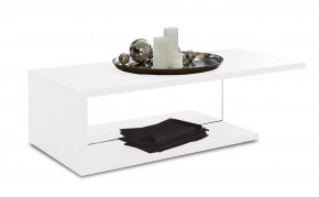 Linea - Konferenční stolek (bílá s čirým sklem)