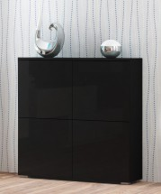 Livo - Komoda 100 (černá mat/černá lesk)