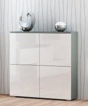 Livo - Komoda 100 (šedá mat/bílá lesk)
