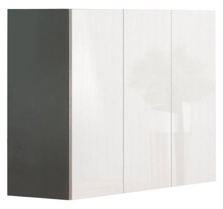 Livo - Komoda 120 (šedá mat/bílá lesk)