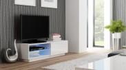Livo - TV stolek 120 stojící (bílá mat/bílá lesk)