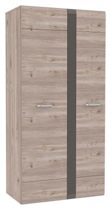 Locarno - Skříň, LCRS821-N92 (dub nelson/šedá mat)