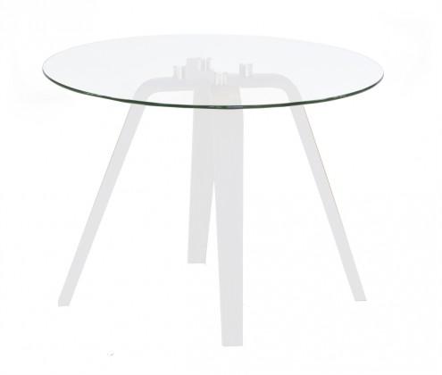 Lola Ella - Konferenční stolek, sklo, bílá (9312-001+9307-090)