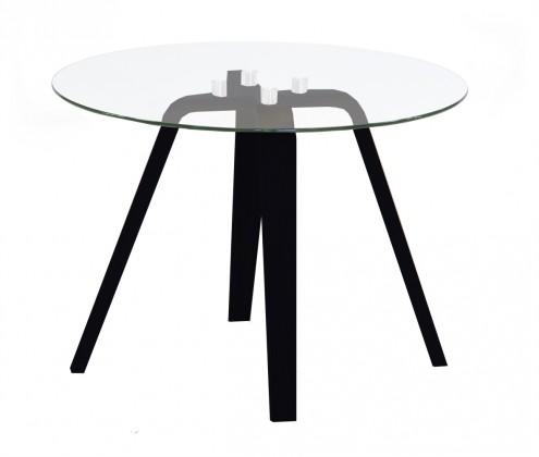 Lola Ella - Konferenční stolek, sklo, černá (9312-024+9307-090)