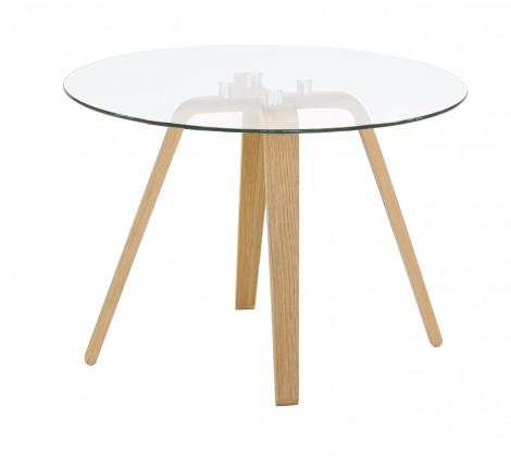 Lola Ella - Konferenční stolek, sklo, dub (9312-054+9307-090)