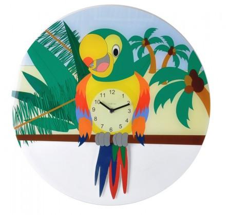 Lorre - hodiny, nástěnné kyvadlové, kulaté (sklo, barevné)
