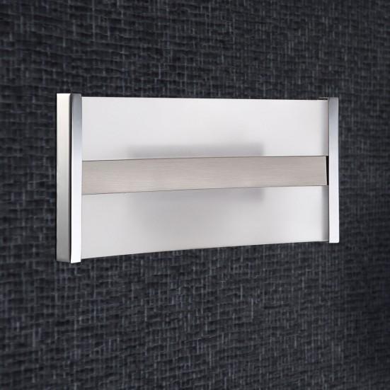 Louvre - Nástěnné svítidlo, LED (matný nikl/chrom)