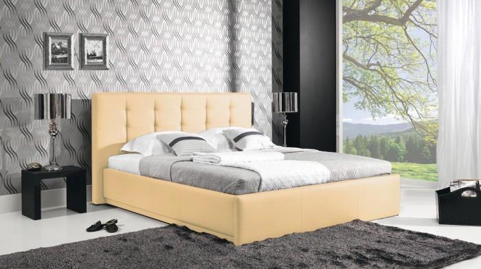 Ložnice ZLEVNĚNO Avalon - Rám postele 200x160, rošt, úložný prostor (eko skay103)