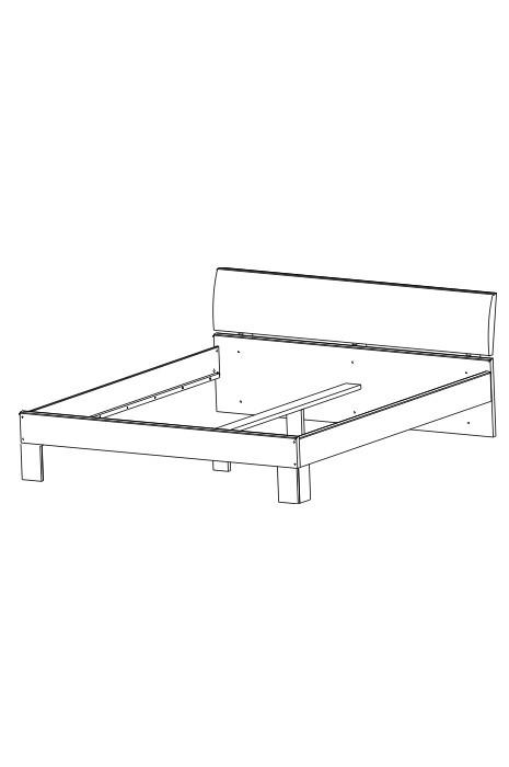 Ložnice ZLEVNĚNO Cassanova 160/200 (jasan coimbra)