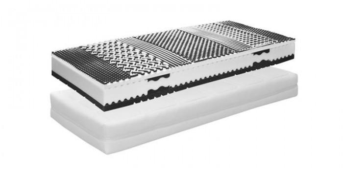 Ložnice ZLEVNĚNO Gala Visco - Matrace 1000 190x90, potah Silver Line