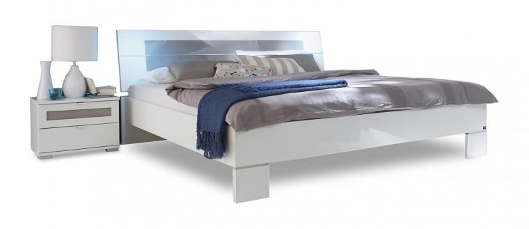 Ložnicový komplet Advantage - Komplet, postel 180 cm (alpská bílá/šedá)