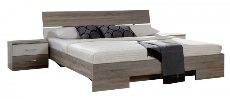 Ložnicový komplet Alina - Komplet 6, postel 140 cm (dub montana, alpská bílá)