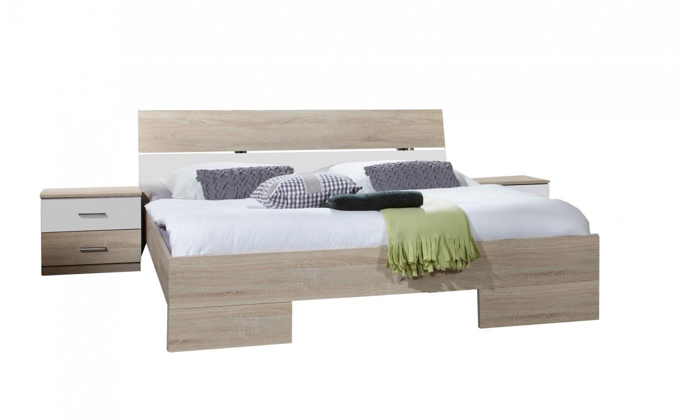 Ložnicový komplet Alina - Komplet 7, postel 160 cm (dub, alpská bílá)