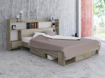 Ložnicový komplet Avona-rám postele, 2 noční stolky, police, ÚP
