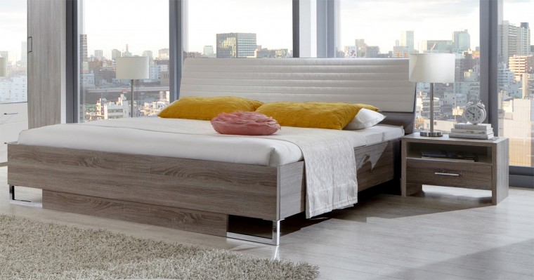 Ložnicový komplet Corfu - Komplet, postel 160cm (dub montana, alpská bílá)