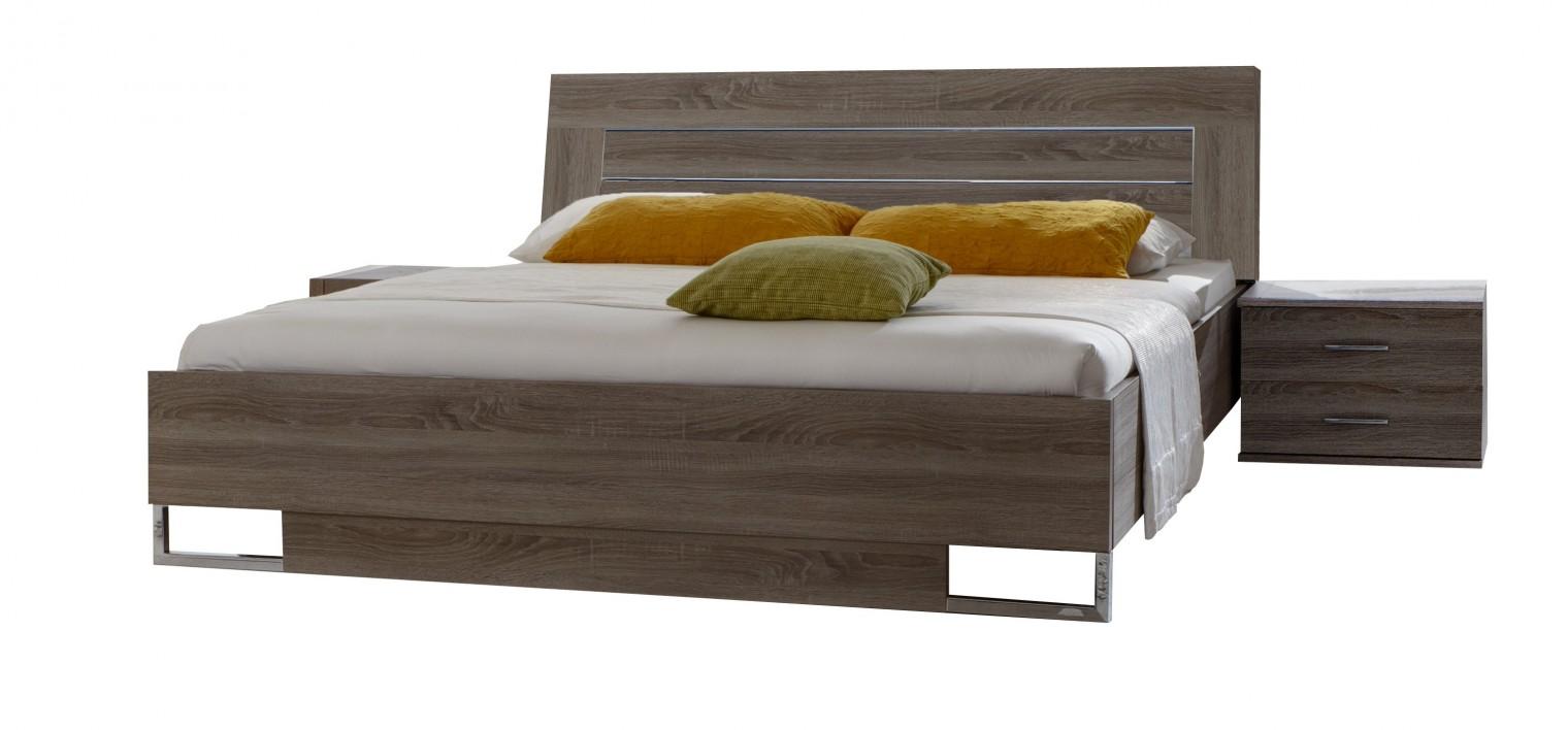 Ložnicový komplet Davos - Komplet 3, postel 180 cm (dub montana)