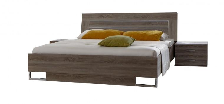 Ložnicový komplet Davos - Komplet 4, postel 160 cm (dub montana)
