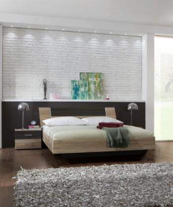 Ložnicový komplet Dora - komplet, postel 180cm (dub, wenge)