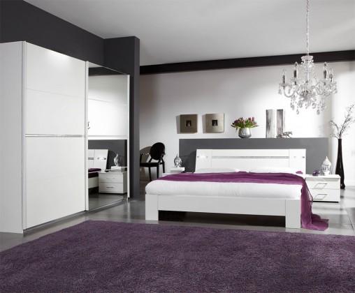 Ložnicový komplet Heaven - Komplet 5, postel 160cm (alpská bílá)