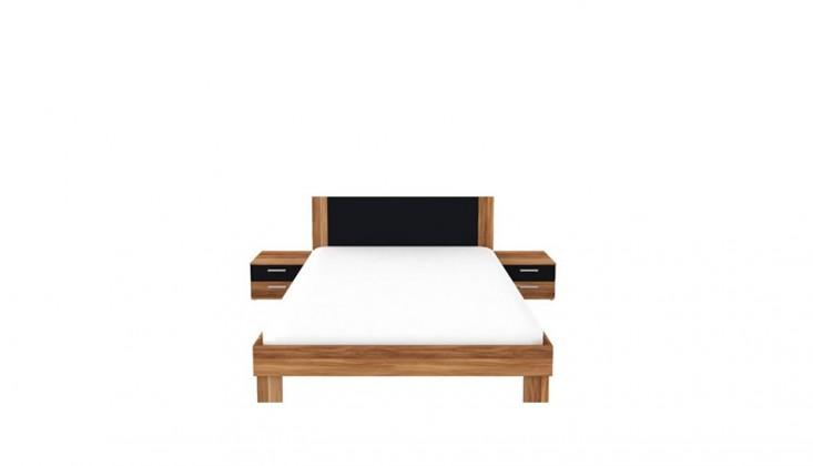 Ložnicový komplet Helen - komplet, postel 160cm (matná černá, italský ořech)