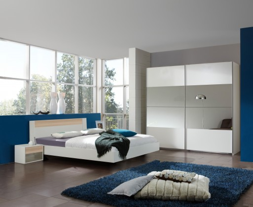 Ložnicový komplet Ilona - Komplet, postel 160 cm (alpská bílá, buk)