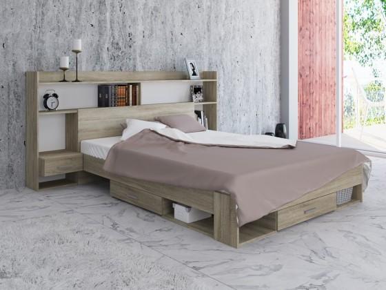 Ložnicový komplet Ložnicový komplet Avona-rám postele, 2 noční stolky, police, ÚP