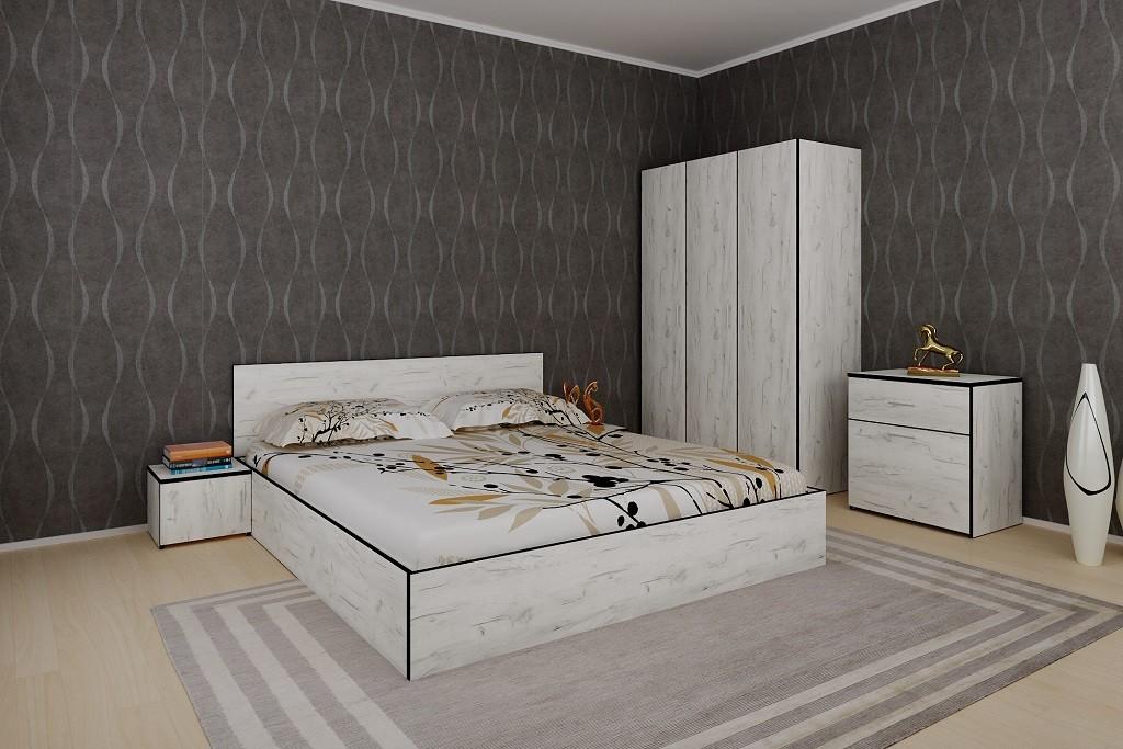Ložnicový komplet Ložnicový komplet Tarja-rám postele,skříň,komoda,2 noční stolky