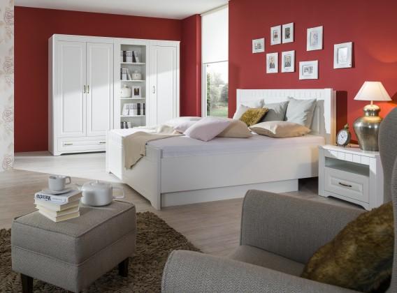 Ložnicový komplet tampere - komplet, postel, skříň, 2 noční stolky