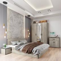 Ložnicový komplet Vernal-rám postele,skříň,komoda,stoly-II.jakost