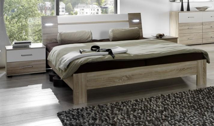 Ložnicový komplet Vicenza - Komplet, postel 140 cm (dub/alpská bílá)