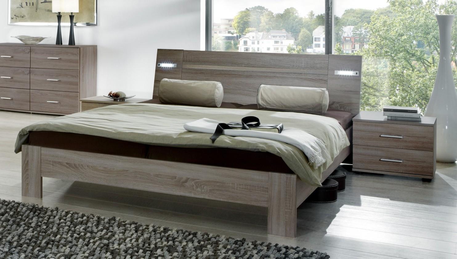 Ložnicový komplet Vicenza - Komplet, postel 140 cm (dub montana)