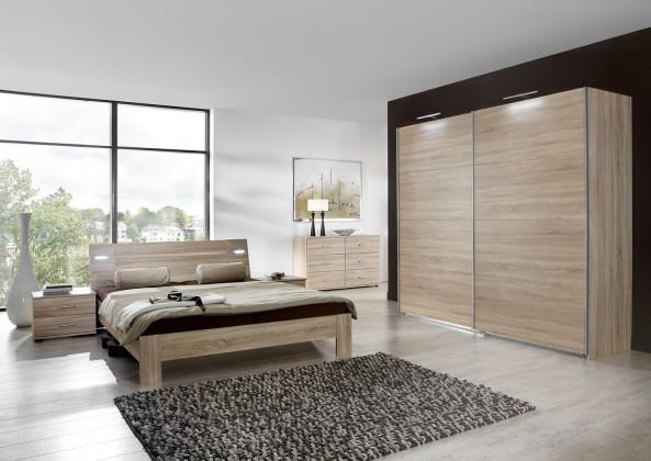 Ložnicový komplet Vicenza - Komplet velký 2, postel 180 cm (dub)