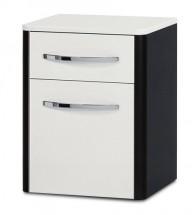 Lucy - Závěsná skříňka spodní SD 273 (bílá lesk/wenge)