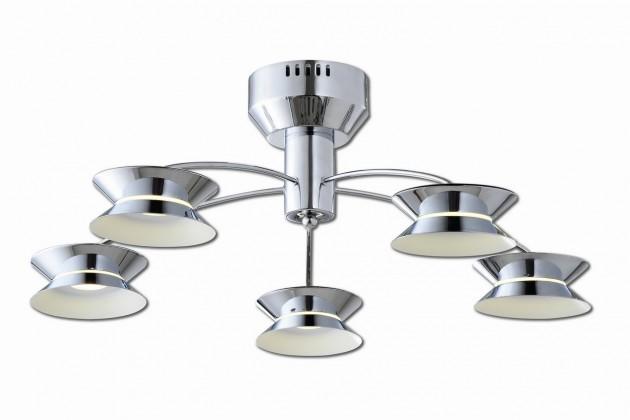Lugano 5 LED (stříbrná)