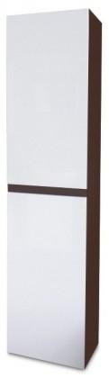 Luis - Závěsná skříňka vysoká SD 64 (bílá lesk/wenge)