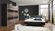 Madeira - Set postel 160x200 + skříň 225 + noč.stolky (dub/láva)