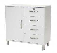 Malibu - komoda, 1x dveře, 4x zásuvka