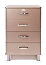 Malibu - Komoda (bronzová, 4x zásuvka)